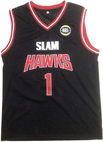 L Ball AU Hawks Stitch Black Basketball Jersey (34)