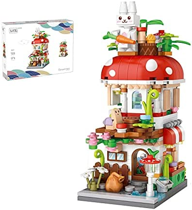 new arrival Commercial Street View Building Sets, Magic House, Nautical House, Mini DIY Building Blocks Model discount MOC Construction Toy. (Not Compatible with Small Particle Bricks) outlet sale (Mushroom House) outlet online sale