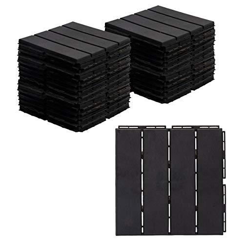 AsterOutdoor Interlocking Deck Tile Plastic Waterproof Outdoor Flooring 12