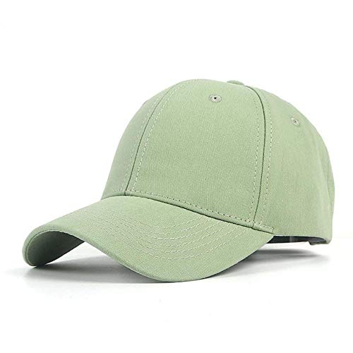 XMYNB Basecap Unisex Schwarz Baseballmütze Frauen Männer Sommer-Herbst-Fest Caps Weiß Sport Hut,Grün,Einstellbare 56-60Cm