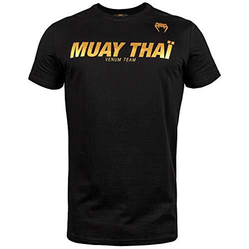 Venum Muay Thai VT T-Shirt Homme, Noir/Or, FR : S (Taille Fa