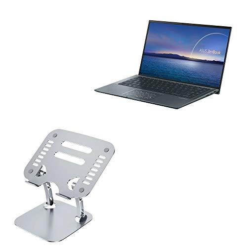 Suporte e suporte BoxWave para ASUS ZenBook 14 Ultralight UX435 [Executive VersaView Laptop Stand] Suporte ergonômico metálico ajustável para laptop ASUS ZenBook 14 Ultralight UX435 - Prata metálica