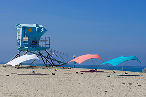 Neso Tents Beach Tent with Sand Anchor, Portable Canopy Sunshade - 7' x 7' - Patented Reinforced Corners(Teal)