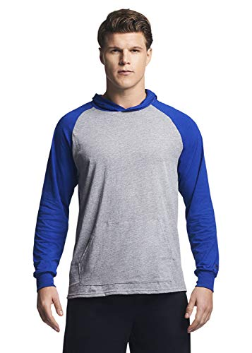Russell Athletic Men's Lightweight Essential Cotton Hoodie, Oxford/Royal, Large