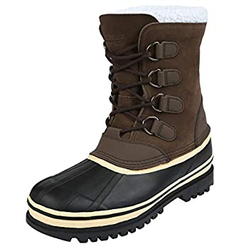 Northside Men s 910826M Back Country Waterproof Padded Sherpa Collar Pack Boot,Brown,12 M US