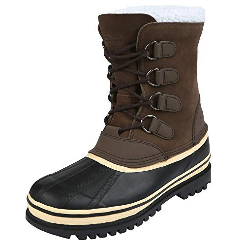 Northside Men's 910826M Back Country Waterproof Padded Sherpa Collar Pack Boot,Brown,13 M US