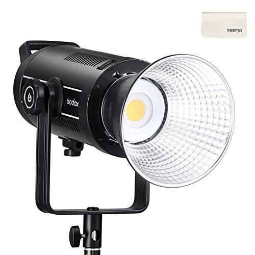 Godox SL150WII Lampada video a LED, Lampada da studio a LED ultra silenziosa da 150 W, Lampada da fotografia a LED 5600K CRI96 TLCI97 per video intervista con film da studio