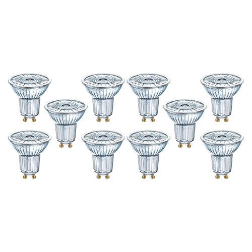 Osram LED Star PAR16 Reflektorlampe, mit GU10-Sockel, nicht dimmbar, Ersetzt 50 Watt, 36° Ausstrahlungswinkel, Warmweiß - 2700 Kelvin, 10er-Pack