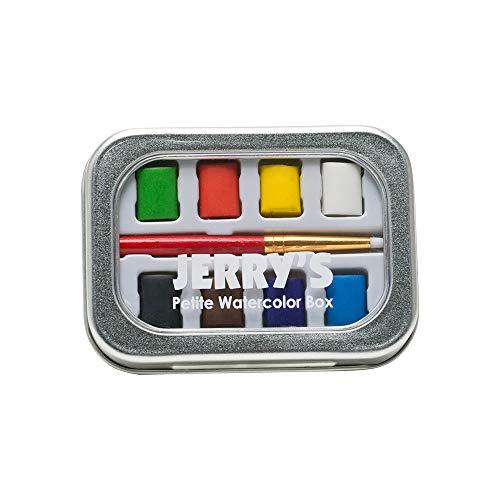 Jerry's Petite 8 Pan Watercolor Paint Set Includes Small Watercolor Paint Brush - Watercolor Set With 8 Assorted Colors
