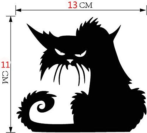 YGbuy Vinilo Etiqueta De La Pared 3D Desmontable Halloween Gato Negro Apliques Decorativos Apliques De Pared Adornos De Papel Tapiz De Halloween Dormitorio Decorativo De Pared