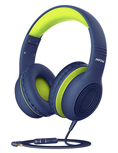 Kinder Kopfhörer, Mpow CH6 Kopfhörer für Kinder mit 85dB Lautstärkeregler Schalter Over Ear Ohrenschützer Faltbar Lebensmittelqualität Material Mikrofon für Smartphone, Tablet, Laptop, Computer, mp4
