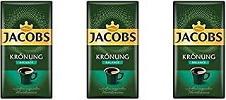 Jacobs Kronung Balance Ground Coffee 500 Gram / 17.6 Ounce (Pack of 3)