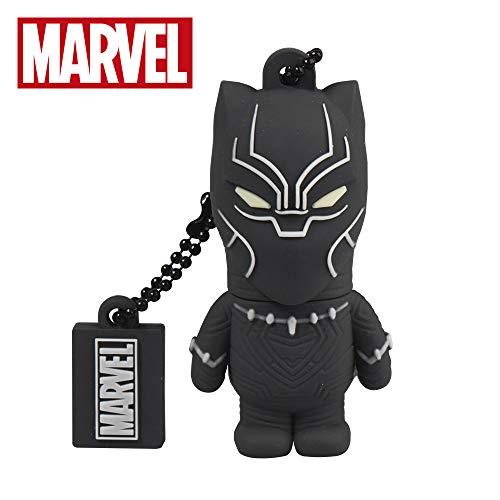 Llave USB 32 GB Black Panther - Memoria Flash Drive 2.0 Original Marvel Avengers, Tribe FD016706