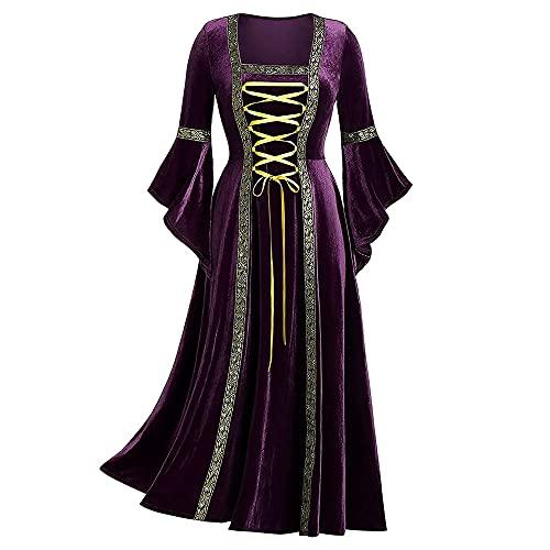 Robe de costume médiéval Renaissance pour femme gothique...
