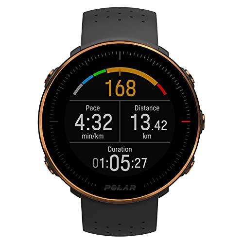 Polar Vantage M – Allround-Multisportuhr mit GPS und optischer Pulsmessung am Handgelenk – Laufen und Multisport-Training – Wasserdicht, leicht und modernste Technologie