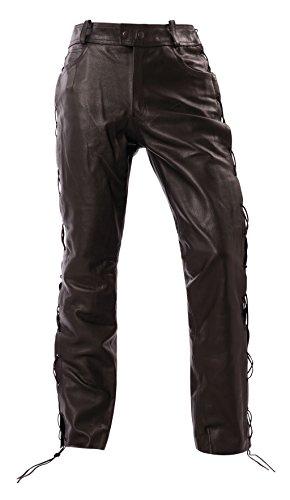 Bangla Lederjeans Schnürjeans Motorrad Biker 5 Pocket Stil 1504 schwarz Inch 42
