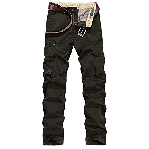 N/ A Herren Designer Heavy Duty Dark Combat Pants Heavy Duty Pflegeleichte Multi-Pocket-Arbeitssicherheit Classic Cargo Pants Hose