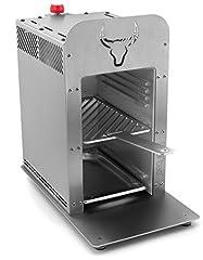 Beeftec HOTBOX | De 800 graden roestvrij stalen topwarmtegasgrill - MADE IN GERMANY | incl. grillrooster, grillhandschoenen, gastro bowl en nog veel meer*