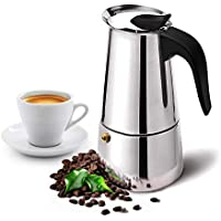 Deeoutlife Stovetop Espresso Maker with Classic and Rich Brews Moka Pot