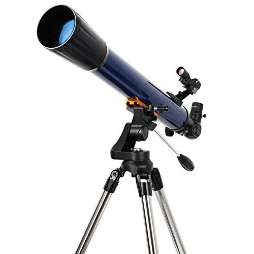 ESSLNB Teleskop Einsteiger Kinder 70/700 Fernrohr Teleskop Astronomie mit Aufrechtes Red Dot Suchfernrohr Smartphone Adapter