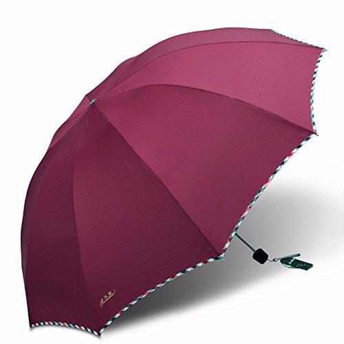 CNBBGJ Refuerzo doble king size paraviento paraguas plegable de doble uso el...
