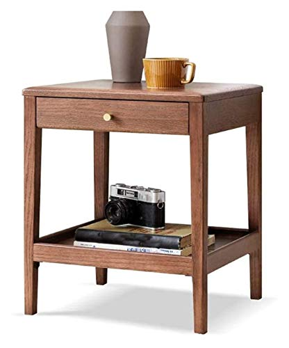 Yppss Bedside Table Minimalist Solid Wood, Solid Wood Side Table Oak Side Table Nordic Minimalist Sofa Accent Table Home Living Room Small Coffee Table eternal