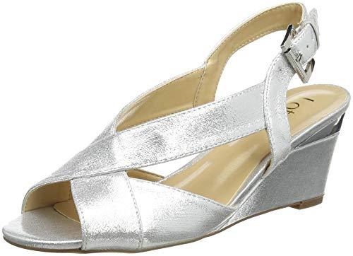 Lotus Damen Dominica Peeptoe Pumps, Silber (Silver Jj), 41 EU