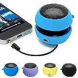 Dicrey Mini Speaker 3.5mm Mini Hamburger Speaker Music Player Plug in Speaker for Tablet PC MP3 Cell Phone (Blue)