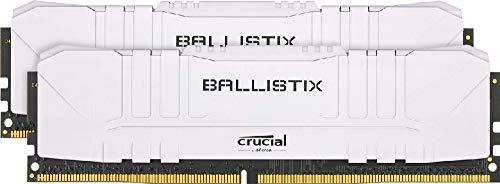 Crucial Ballistix BL2K8G32C16U4W 3200 MHz, DDR4, DRAM, Memoria Gaming Kit per Computer Fissi, 16GB (8GB x2), CL16, Bianco