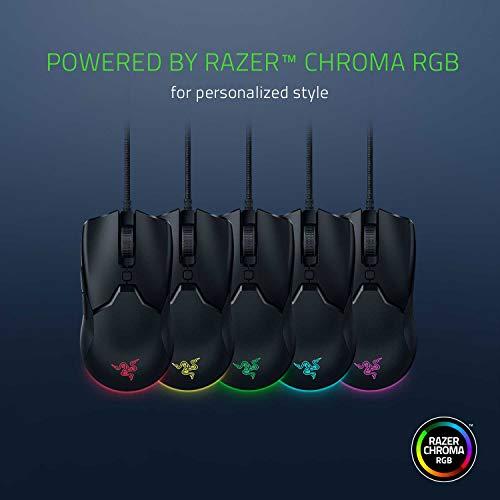 Razer Viper Mini – Ultra light Gaming Mouse (Ultraleichte beidhändige Gamer Maus mit 61g Gewicht, Speedflex-Kabel, optischer 8.500 DPI Sensor und RGB Chroma Beleuchtung) Schwarz - 6