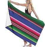 XCNGG Toalla mexicana de rayas rosa de secado rápido, toalla de playa de microfibra para mujer, extra absorbente y suave, toalla de viaje al aire libre para adolescentes, adultos, niños, playa, campin
