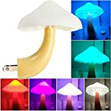 AUSAYE LED Night Light Plug in Lamp Mushroom Night Light 7-Color Changing Magic Mini Pretty Mushroom-Shaped Night Lights for Adults Kids NightLight
