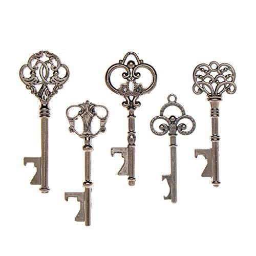 50Schlüssel-Flaschenöffner–sortiert Vintage Skelett Schlüssel... anthrazit