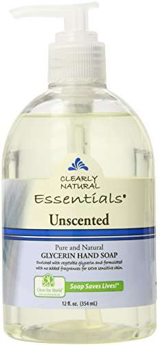 Clearly Natural Liquid Glycerine Soap, Unscented, 12 Ounce (Pack of 2)