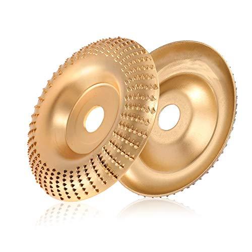 Mola per smerigliatrice angolare Disco Intaglio Legno Carburo di Tungsteno mola intaglio disco Carving Abrasivo, per levigatura intaglio modellatura lucidatura (D'oro)