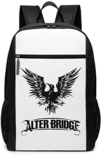 Mochila Mochila de Viaje Alter Bridge Blackbird Logo Backpack Laptop Backpack School Bag Travel Backpack 17 Inch
