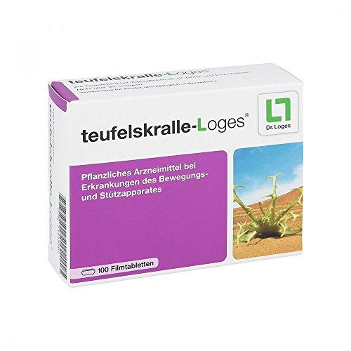 teufelskralle-Loges® 2-Monatspackung - Konzentrat bei Gelenkschmerzen - Pflanzliches Arzneimittel dem hochdosierten Extrakt aus der Teufelskrallenwurzel - für mehr Beweglichkeit - 100 Tabletten