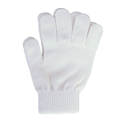 A&R Sports Knit Gloves, White, One Size