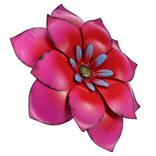 VOSAREA Métalliques Fleurs Décoration Murale Grand Mur De Fleur Art De Fer Fleur Inspirée Mur Sculptures Suspendues Décoration pour Intérieur Extérieur Chambre Bureau Jardin