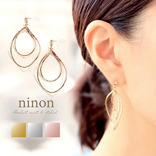 (ニノン)ninonノンホールピアス樹脂ピアスティアドロップ