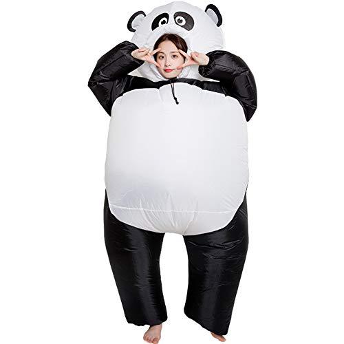 LYDP Panda aufblasbare Kleidung Halloween Süßes oder Saures Lustige Kostüm Party Jumpsuit, Erwachsenen- und Kinderspiel Rollenspiel Explosiver Anzug