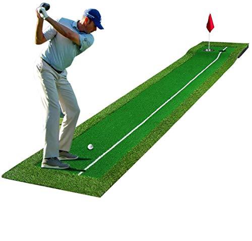 Golf Puttingmatte 0.5 * 3M, Professionelles Golf Putting Green Matte, Golf Simulation Gras Trainingsmatte für Chipping Pitching, mit 5CM Abnehmbarem Hangboden, für Drinnen, Innenhof im Freien