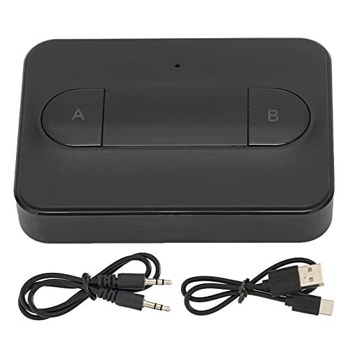 Transmisor de audio Bluetooth, Adaptador de audio Bluetooth de bajo consumo de energía de 5.0 chips, Antena incorporada, Soporte de una a dos funciones, para el sistema de sonido del hogar del automóv