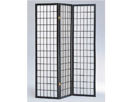 SQUARE-FURNITURE-Panel-Shoji-Screen-Room-Divider-3-10-Panel-Black