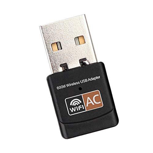 SANON Schwarzer Dualband-WLAN-Adapter USB-WLAN-Externer Empfänger Unterstützt WLAN-Verschlüsselung von Wfa Wpa Wpa2 Wps2. 0