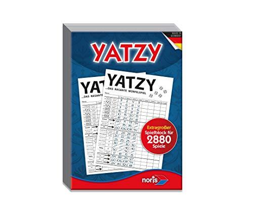 Noris 606194320 Yatzy Spielblock im Maxi Format 14,5 x 20,7 cm, Extragroßer Yatzyblock für 2.880, 2 Spieler im Alter ab 6 Jahren