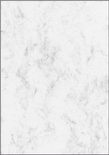 SIGEL DP183 Marmor-Papier grau, A4, 25 Blatt, Motiv beidseitig, 90 g - weitere Farben