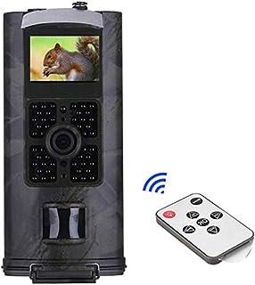 Nfudishpu Wildlife Trail - Cámara de Caza (16 MP 1600 W Resistente al Agua para vigilancia de la Vida Silvestre Sensor de Movimiento de 110° visión Nocturna activada por Movimiento)