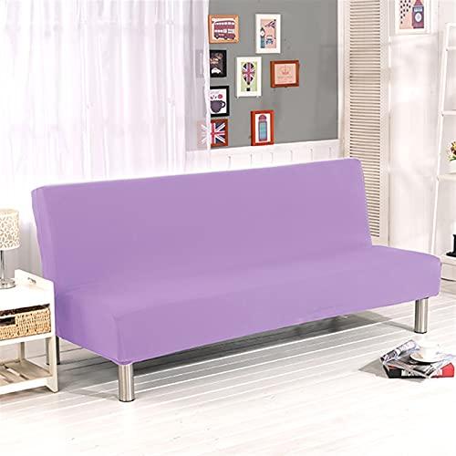 XYWML Color Sólido Sofá Cama Cubiertas Sin Apoyabrazos Elástico Tight Wrap Cubierta del Sofá Stretch Flexible Slipcovers Sofá (Color : Lilac, Specification : S)