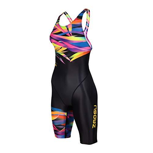 ZAOSU Damen & Mädchen Wettkampf-Schwimmanzug Z-Jungle | Competition Sport Badeanzug, Größe:104